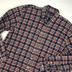 Hickey Freeman button down plaid shirt